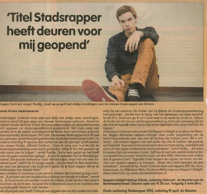 Stadsrapper Apr '14