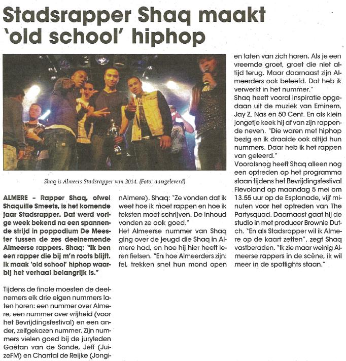 Stadsrapper Shaq Apr '14