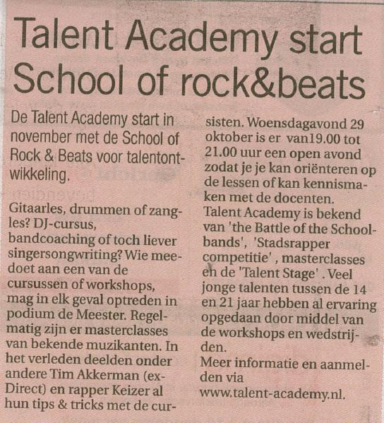 Talent Academy Oct '14